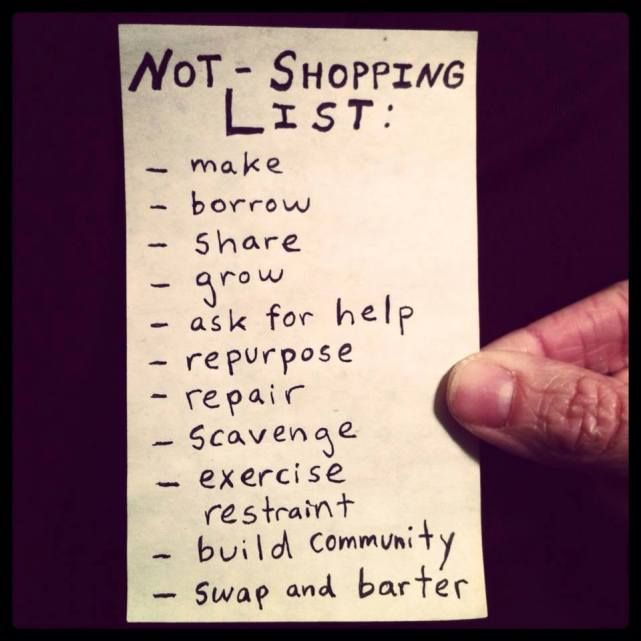 not shopping list